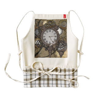 Steampunk with cute geckpo zazzle HEART apron