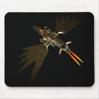 STEAMPUNK WOMAN ON STEAM DRAGON MOUSEPAD