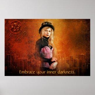 Steampunk woman poster