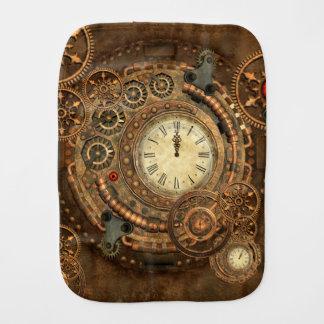 Steampunk, wonderful clockwork baby burp cloth