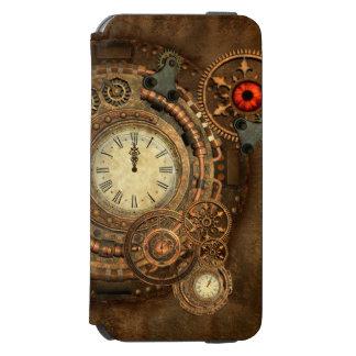 Steampunk, wonderful clockwork iPhone 6/6s wallet case