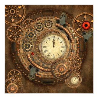 Steampunk, wonderful clockwork magnetic card