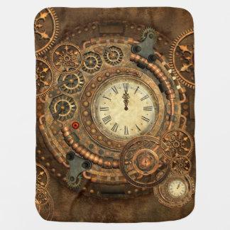 Steampunk, wonderful clockwork swaddle blanket