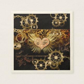 Steampunk, wonderful heart paper napkin
