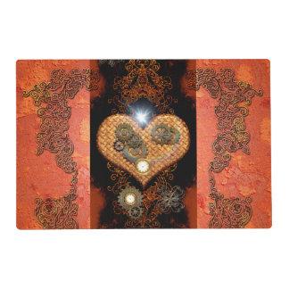 Steampunk, wonderful heart placemat