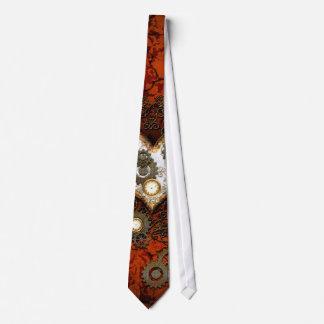 Steampunk, wonderful heart with clocks neck tie