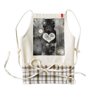 Steampunk, wonderful heart zazzle HEART apron