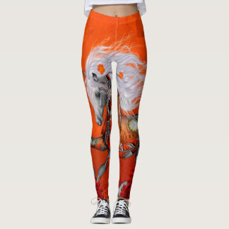 Steampunk, wonderful wild steampunk horse leggings