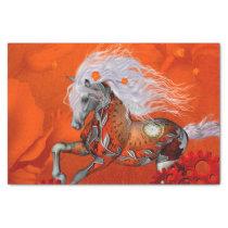 Steampunk, wonderful wild steampunk horse tissue paper