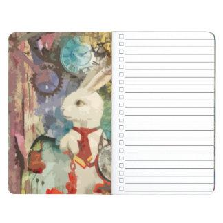 Steampunk Wonderland White Rabbit Journal