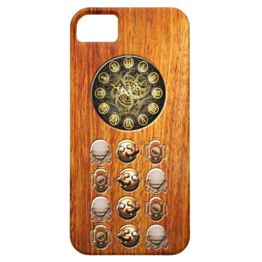 Steampunk wood iphone 5 covers