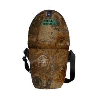 Steampunk World of Prof. J. Byrnes Courier Bag