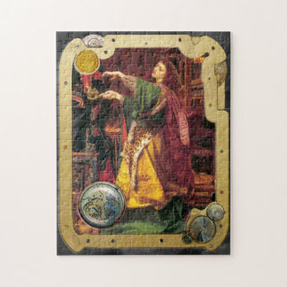Steampunk y hada del La de Morgan del Pre-Raphaeli Rompecabeza Con Fotos