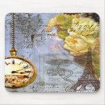 Steampunk y rosas amarillos tapetes de raton