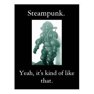 Steampunk. Yeah, it's kind of like that. Postcard