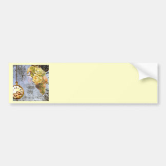 Steampunk & Yellow Roses Bumper Sticker