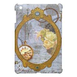 Steampunk Yellow Roses iPad Mini Cover