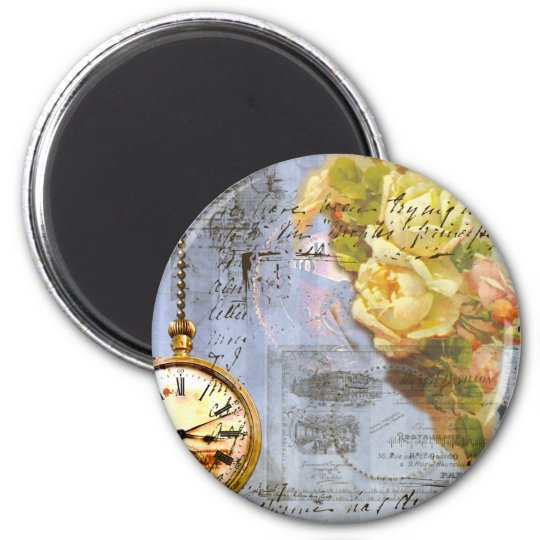 Steampunk & Yellow Roses Magnet