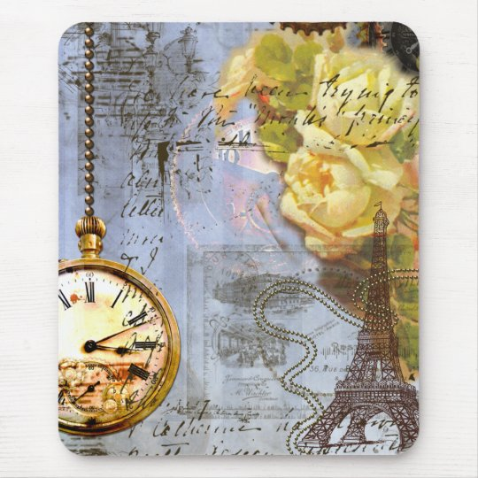 Steampunk & Yellow Roses Mouse Pad