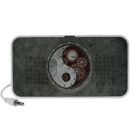Steampunk Yin Yang Altavoces De Viajar