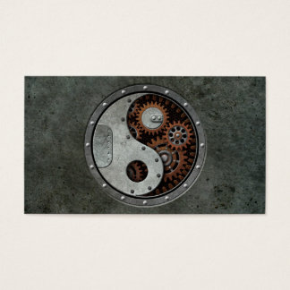 Steampunk Yin Yang Business Card