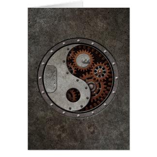 Steampunk Yin Yang Greeting Card