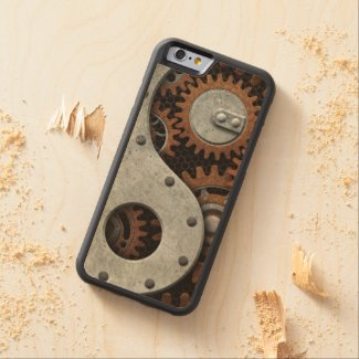 Steampunk Yin Yang Carved® Maple iPhone 6 Bumper