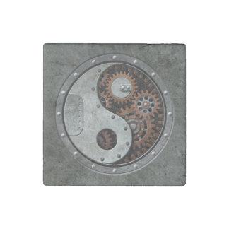 Steampunk Yin Yang Stone Magnet