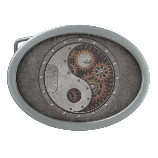 Steampunk Yin Yang Hebilla Cinturon Oval