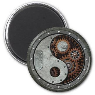 Steampunk Yin Yang Imán Redondo 5 Cm