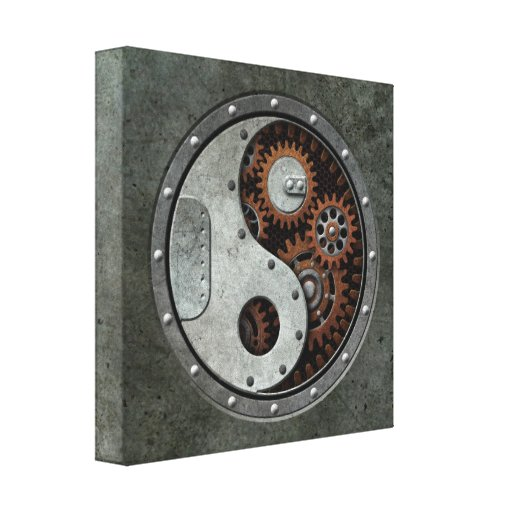 Steampunk Yin Yang Impresión En Lienzo Estirada