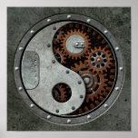Steampunk Yin Yang Impresiones