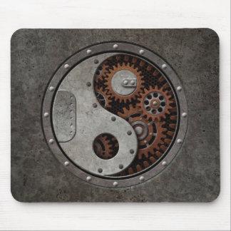 Steampunk Yin Yang Mouse Pad