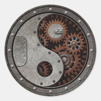 Steampunk Yin Yang Pegatina