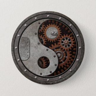 Steampunk Yin Yang Pinback Button