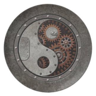 Steampunk Yin Yang Plate