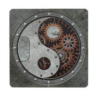 Steampunk Yin Yang Posavasos De Puzzle