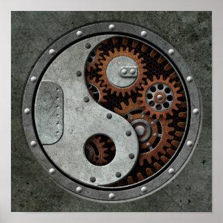 Steampunk Yin Yang Poster