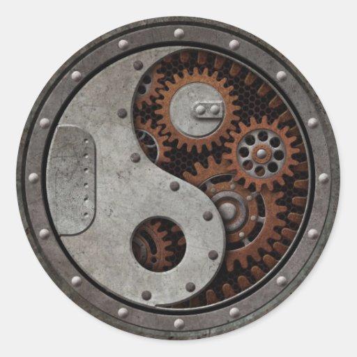 Steampunk Yin Yang Sticker