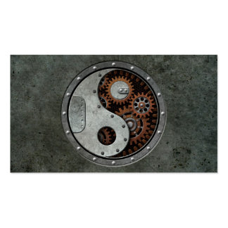 Steampunk Yin Yang Tarjeta De Visita