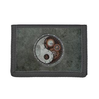 Steampunk Yin Yang Tri-fold Wallet