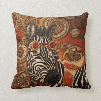 Steampunk Zebra Pillow