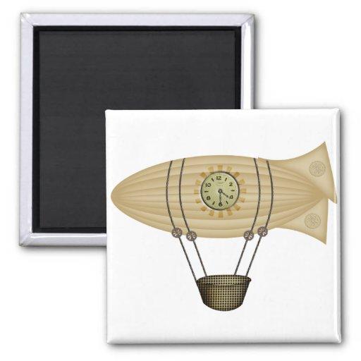 steampunk zeppelin airship refrigerator magnet