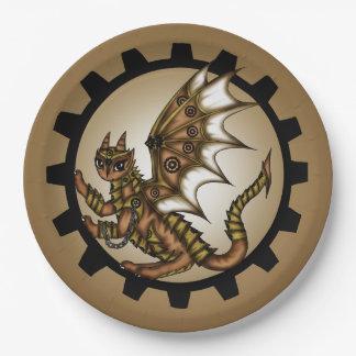 Steampunkdragon Paper Plate