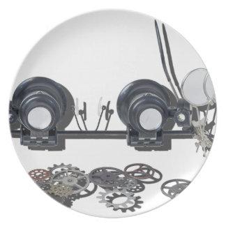 SteampunkGlassesGears031415 Dinner Plate