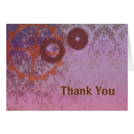 steampunkin thank you note card