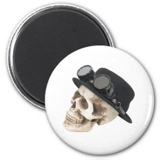 SteamPunkSkull073109 2 Inch Round Magnet