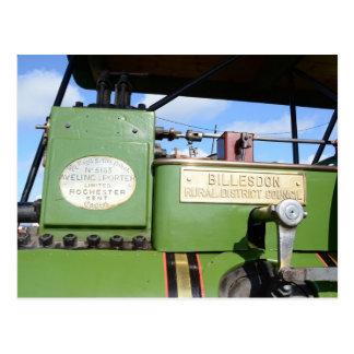 Steamroller del vintage postal
