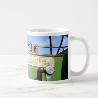 Steamroller del vintage taza clásica