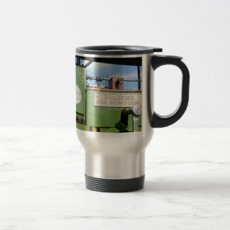Steamroller del vintage taza térmica